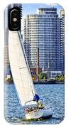 Sailboat In Toronto Harbor IPhone Case