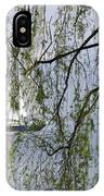 Sailing Boat Behind Tree Branches IPhone Case