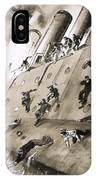 Sailors Escaping Hms Natal Which Caught Fire In Cromerty Firth In 1915 IPhone Case