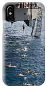 Sailors Jump To The Sea During A Swim IPhone Case