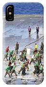 Sailors Perform A Flight Deck Wash IPhone Case