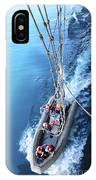 Sailors Release Lines From A Rigid Hull IPhone Case