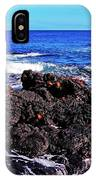 Sally Lightfoot Crabs On Basalt IPhone Case