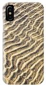 Sand Ripples In Shallow Water IPhone Case