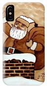 Santa Claus Gifts Original Coffee Painting IPhone Case
