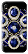 Sapphire And Gold Brooch IPhone Case