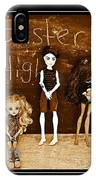 Sarah's Monster High Collection Sepia IPhone Case