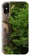 Sasquatch Rubbing Tree IPhone Case
