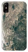 Satellite Image Of Flood Waters IPhone Case