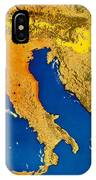 Satellite Image Of Italy IPhone Case