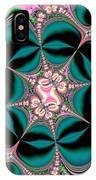 Satin Flowers And Butterflies Fractal 122 IPhone Case