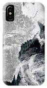 Sea Ice Lines The Coasts Of Sweden IPhone Case