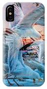 Seagulls On Brighton Pier IPhone Case