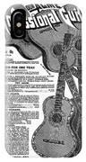Sears Ad - Guitars 1902 IPhone Case