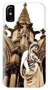 Sepia - Forrest Lawn Cemetery - Buffalo New York IPhone Case
