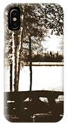 Sepia Picnic Table Ll IPhone Case