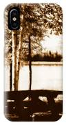 Sepia Picnic Table Lll IPhone Case