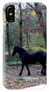 Serene Setting With A Friesian IPhone Case