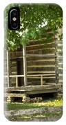 Settlers Cabin And Crosstie Fence 4 IPhone Case