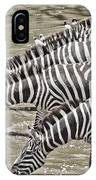 Several Thirsty Zebra IPhone Case