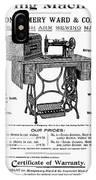 Sewing Machine Ad, 1895 IPhone Case