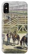 Shipping Cattle, 1877 IPhone Case