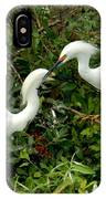 Showy Snowy Egrets IPhone Case