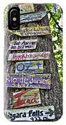 Signs On A Tree IPhone Case