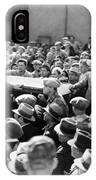 Silent Film: Crowds IPhone Case