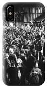Silent Film Still: Crowds IPhone Case