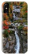 Silver Cascades Surrounded By Colors IPhone Case