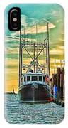 Single Fish Boat Hdr IPhone Case