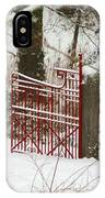 Single Red Gate IPhone Case