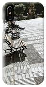 Sitting In The Park - Madrid IPhone Case