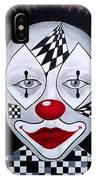 Skeptical...clown IPhone Case