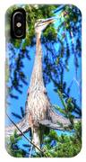 Puget Sound Great Blue Heron Skirt Wings IPhone Case