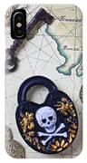Skull And Cross Bones Lock IPhone Case