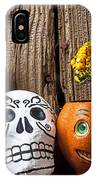 Skull And Jack-o-lantern IPhone Case