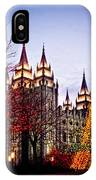 Slc Temple Tree Light IPhone Case
