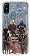 Sleigh Ride In The Frontenac Axis IPhone Case