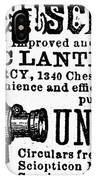 Slide Projector Ad, 1878 IPhone Case