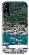 Small Idyllic Yacht Harbor  IPhone Case