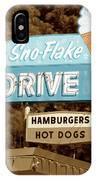 Sno-flake Drive In Lake Tahoe IPhone Case