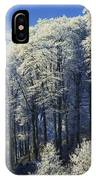 Snow Covered Trees In A Forest, County IPhone Case