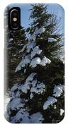 Snow Crusted Evergreen IPhone Case