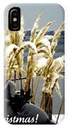Snow Dust Christmas Card IPhone Case