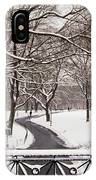 Snow In Central Park IPhone Case