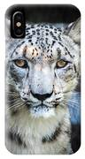 Snow Leopards Stare IPhone Case