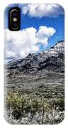 Snow On The Superstitions  IPhone Case