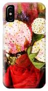 Snowball Plant Abstract 4 IPhone Case